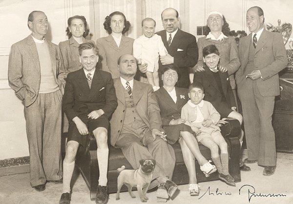 La famiglia Berlusconi (foto-montaggio)