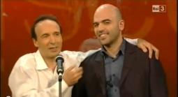 Roberto Saviano e Roberto Benigni