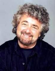 Il comico, leader del Movimento 5 Stelle, Beppe Grillo