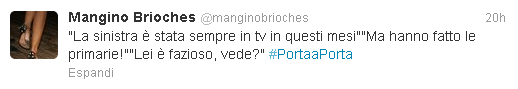 Il tweet di Mangino brioches