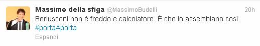 Il tweet di Massimo Budelli