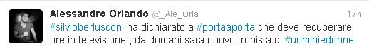 Il twet Alessandro Orlando