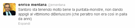 Il commento di Enrico Mentana su Twitter