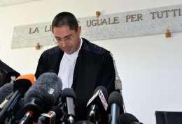 Il giudice Marco Billi mentre legge la sentenza