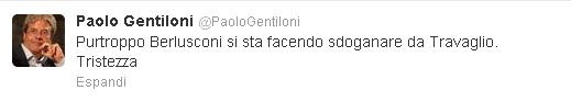 Il commento di Paolo Gentiloni su Twitter