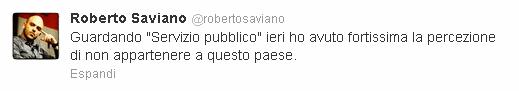 Il commento di Roberto Saviano su Twitter