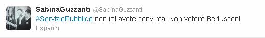 Il commento di Sabina Guzzanti su Twitter