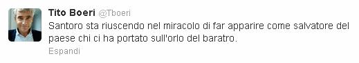 Il commento di Tito Boeri su Twitter