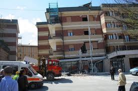 La Casa dello Studente a L'Aquila, distrutta dal terremoto del 6 aprile 2009