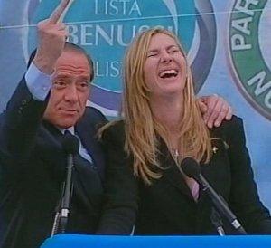 Michaela Biancofiore con il suo papà politico, Silvio Berlusconi